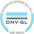 Certificación sistema gestión I+D+ I DNV-GL UNE 166002