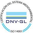 Certificación sistema medioambiental DNV-GL ISO 14001