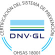 Certificación sistema prevención DNV-GL OHSAS 18001